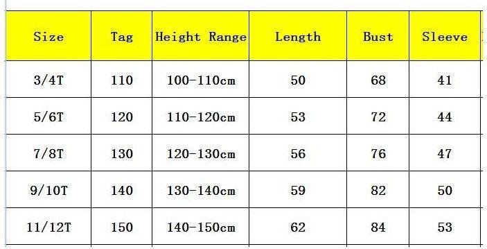 детский размер таблица алиэкспресс